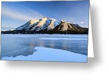 Snow Line Greeting Card