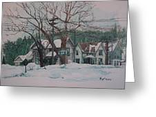 Snow Next Door Greeting Card