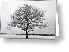 Snow On Epsom Downs Surrey Uk Greeting Card