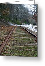 Snow On Rails Greeting Card