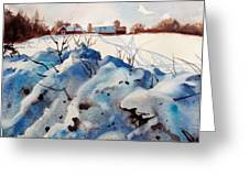 Snow On Southwick I Greeting Card