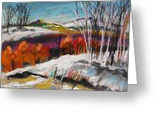 Snow On The Hills Greeting Card