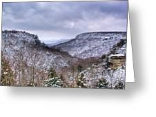 Snow On The Mesa Greeting Card