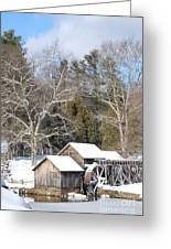 Snow On The Mill 2 Greeting Card