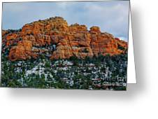 Snow On The Red Rocks Greeting Card
