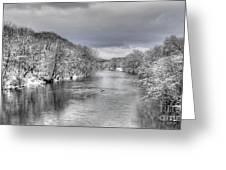 Snow On The Staunton Greeting Card