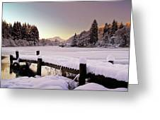 Snow Over Loch Ard Greeting Card