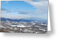 Snow Overlook Greeting Card