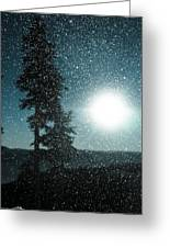 Snow Particles Back Light Greeting Card