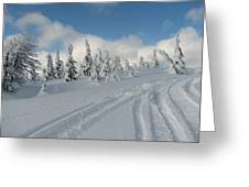 Snow Pass Bc High Country Greeting Card