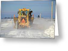 Snow Plowing Greeting Card