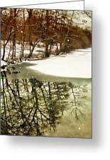 Snow Pond Greeting Card