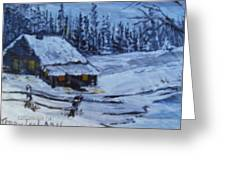 Snow Portrait Greeting Card