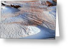 Snow Sand And Rocks Greeting Card