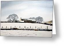 Snow Scene Barkisland Greeting Card