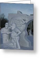 Snow Sculpture Greeting Card