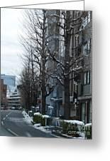 Snow Shibuya Tokyo Japan Greeting Card