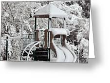 Snow Slide Greeting Card