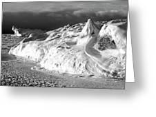Snow Squal On Lake Michigan Greeting Card