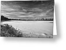 Snow Storm 2 Panorama Greeting Card
