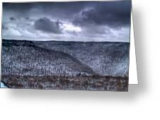 Snow Storm In The Mountains Greeting Card
