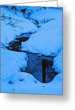 Snow Stream Greeting Card