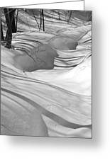 Snow Swirls Greeting Card