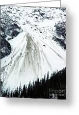 Snow Then Land Slide Greeting Card