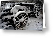 Snow Wagon Greeting Card