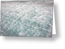 Snow Waves Greeting Card