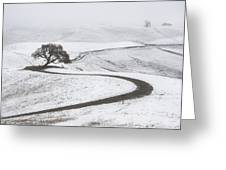 Snow Without You Greeting Card