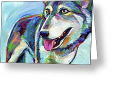Snow Wolf Greeting Card