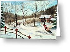 Snowball Battle Greeting Card