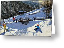 Snowballers Greeting Card