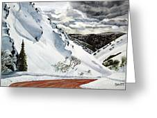 Snowboarding Greeting Card