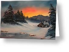 Snowbound Sunrise Greeting Card