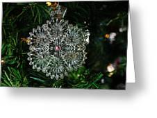 Snowcrystal Ornament 2016 Greeting Card
