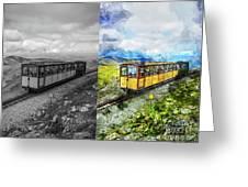 Snowdon Train Greeting Card