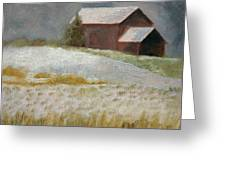 Snowfall In The Valley Greeting Card