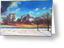 Snowfield IIi Greeting Card by Lucinda  Hansen