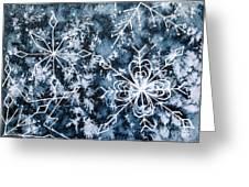 Snowflake Greetings Greeting Card