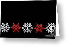 Snowflakes In A Row Greeting Card