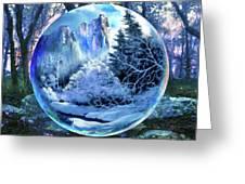 Snowglobular Greeting Card