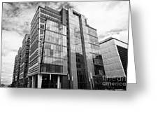 snowhill office development in new financial area of Birmingham UK Greeting Card