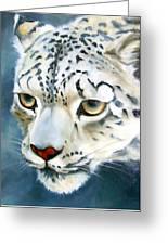 Snowleopard Greeting Card