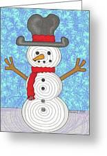 Snowman 2015 Greeting Card