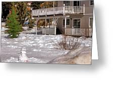 Snowman Big Bear California Greeting Card