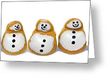 Snowman Doughnuts Greeting Card