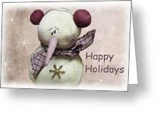 Snowman Greeting Card Greeting Card