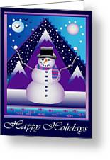 Snowman Juggler Greeting Card